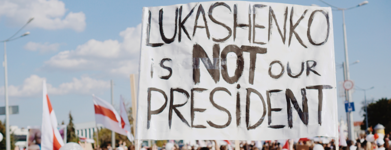 Lukashenko is not our president-mielenosoitus